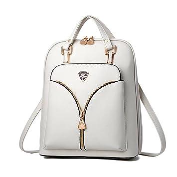 38603e023a6d2 Damen Rucksack Damen Tasche Leder Daypack Backpacks Freizeitrucksack Schwarz