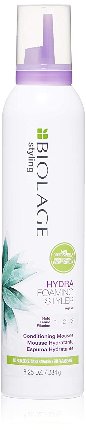 BIOLAGE Styling Hydra Foaming Styler | Conditioning Hair Mousse With UV Filters | Medium Hold | Paraben-Free | For All Hair Types |8.25 Oz.: Premium Beauty