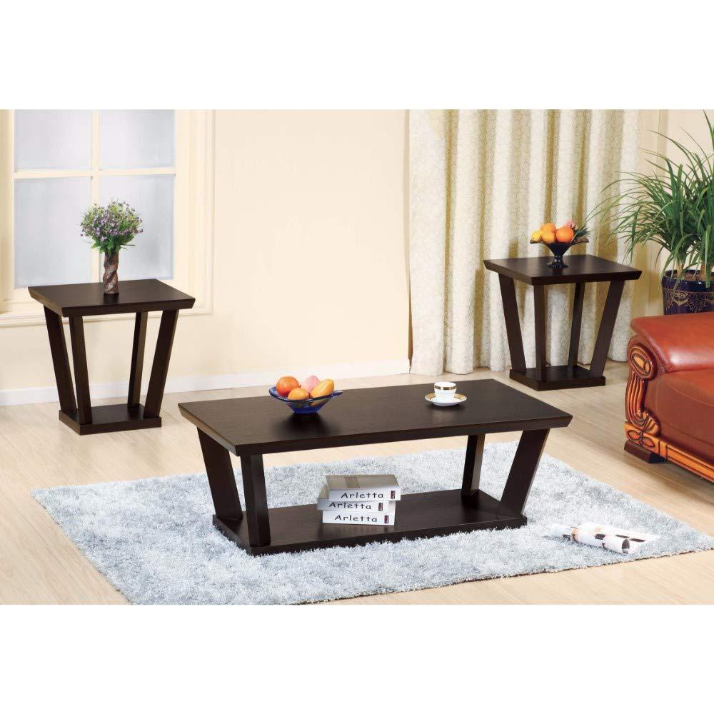 Benzara Contemporary Style Coffee & End Table (Set of 3) by Benzara