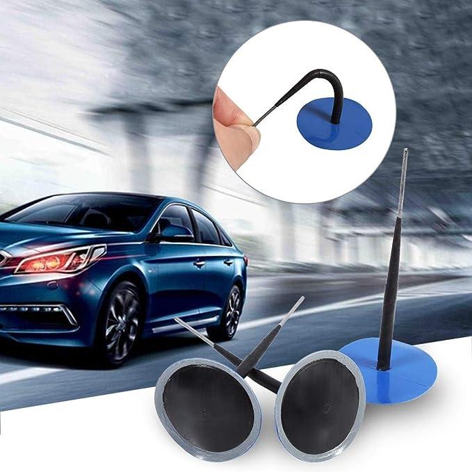 Parche de reparación de neumáticos automático, tapón de reparación de pinchazos de goma de 6 mm con enchufe integral, caja de 24 unidades, para coche, ...