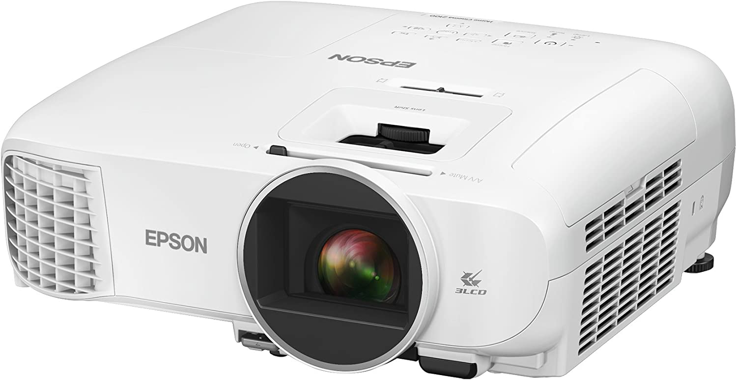 Epson Home Cinema 2100, Full HD, 1080p, 2,500 lumens Color Brightness (Color Light Output), 2,500 lumens White Brightness (White Light Output), 2X HDMI (1 MHL), 3LCD Projector (Renewed)