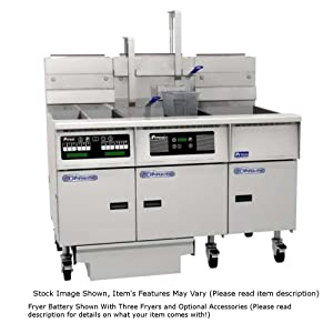 Pitco SG14RS-3FD Solstice Prepackaged Gas Fryer System with Solstice Solo Filter System (3) 40-50 lb Tanks 366,000 BTU