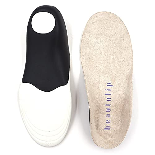 Beautulip Kids Insoles for Flat Feet, Orthotics Arch Support Comfort Shoe Inserts for Active Children with Sensitive Feet
