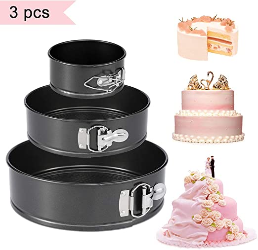 Springform Pan Alotpower 9 Inch Non-Stick Coating Round Cake Pan with Removable Bottom Leakproof Cake Pan