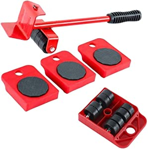 Furniture Lifter and 4 pcs Furniture Slides, Heavy Furniture Move Roller Tools Max Up for 150KG/330LBS, for Sofas, Couches and Refrigerators, Easily Redesign and Rearrange Living Space Sofa EAS
