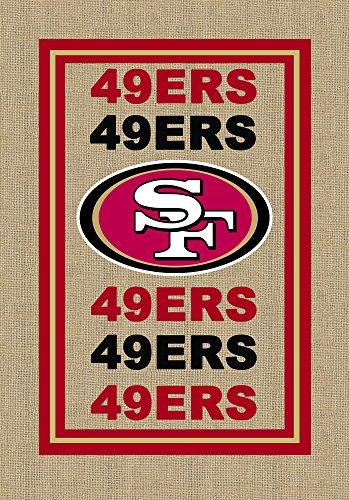 NFL San Francisco 49ers Limited Edition Logo Burlap Garden Flag, Medium, - Of Pembroke Shops Stores Gardens