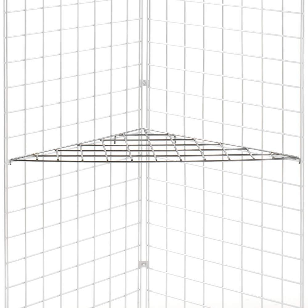 Corner Grid Shelf in Steel Black Finish 24 W x 24 D x 33 1/2 H Inch