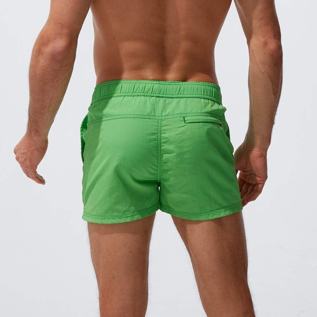 Landscap Mens Quick Dry Beach Short Swim Trunks with Mesh Lining Drawstring Summer Beach Shorts with Elastic Waist