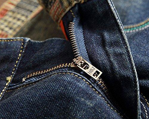 Yonglan Hombre Pintar Agujeros Parche Pantalones de la Moda ...