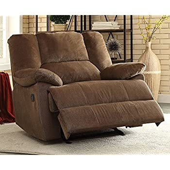 Acme Furniture 59415 Oliver Oversized Glider Recliner (Motion), Chocolate  Corduroy