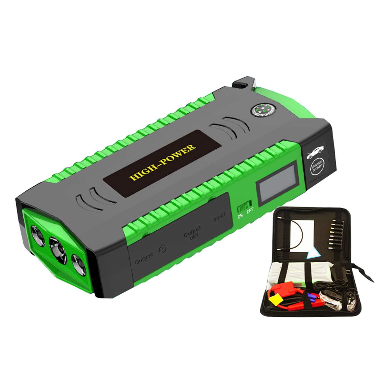 Jump Starter for Vehicles 12V 18000mAh Diesel Battery Emergency Start Power Large-Capacity Car Igniter 1 Pack (M19B Carring Box Packing, Green) by Yourshops
