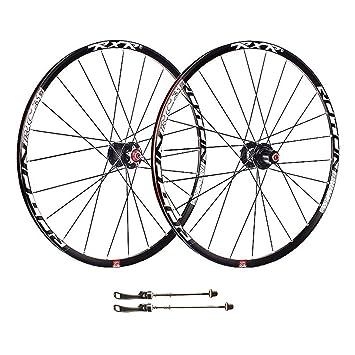 ZNND 26 Pulgadas Rueda para Bicicletas, Agujeros con Doble Pared MTB Rim V-Brake Rodamiento Sellado Montaje Fácil para 8/9/10/11 Velocidad: Amazon.es: ...