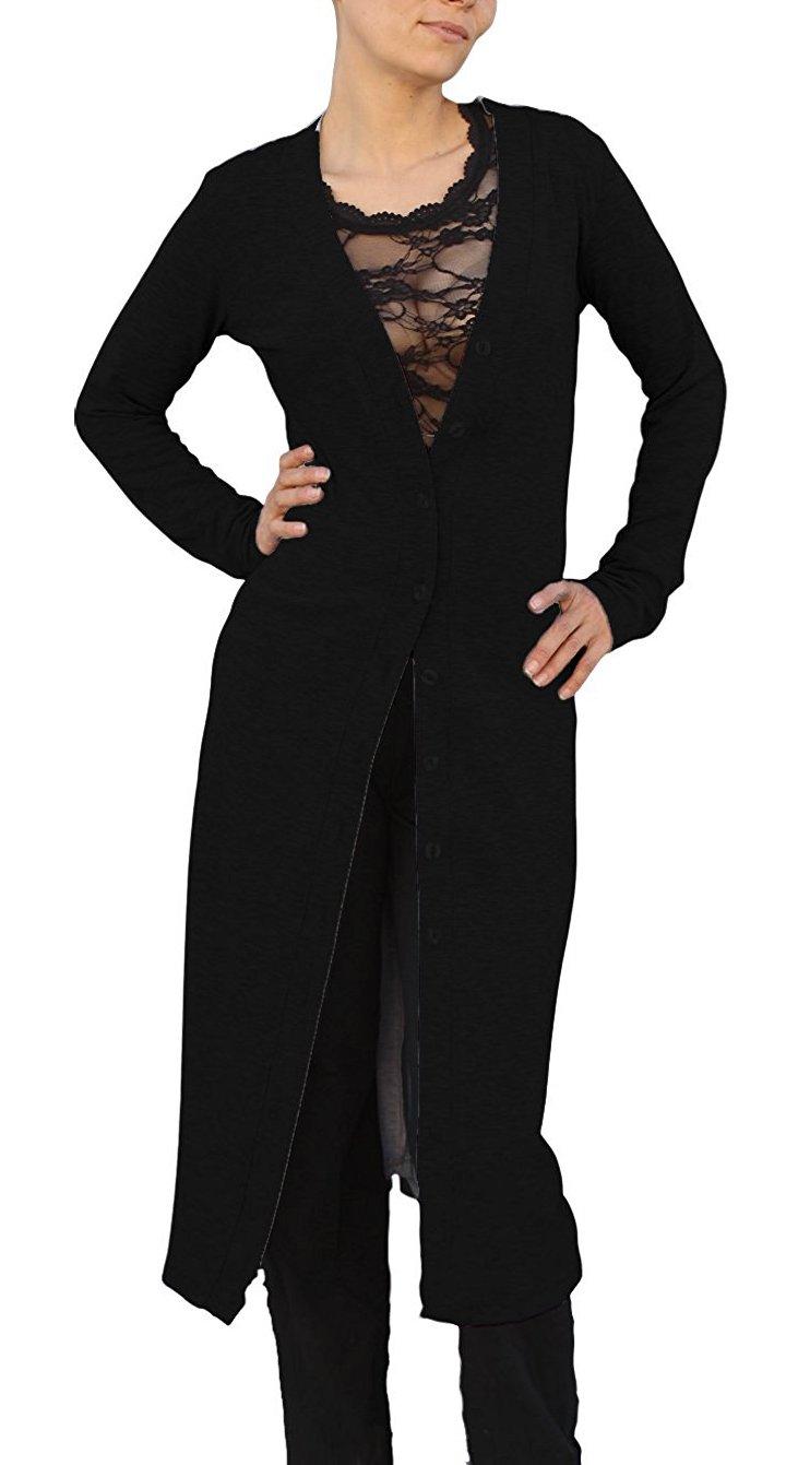 Ooh La La Front Button Long Cardigan Sweater 460220XXL