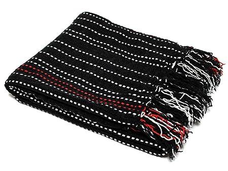 Soleil D 'Ocre 40x40 Cm Chenille Throw Blanket Black Amazoncouk Beauteous Black Chenille Throw Blanket
