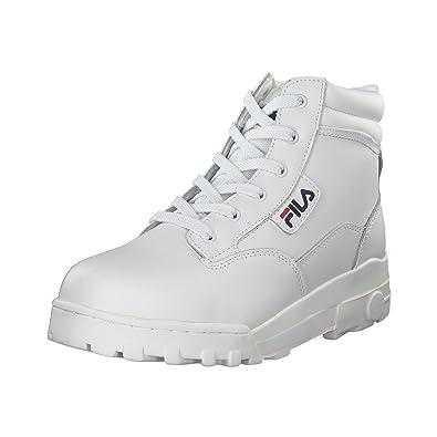 169a853288e Fila Men s Grunge L Mid Low-Top Sneakers White Size  11.5  Amazon.co ...