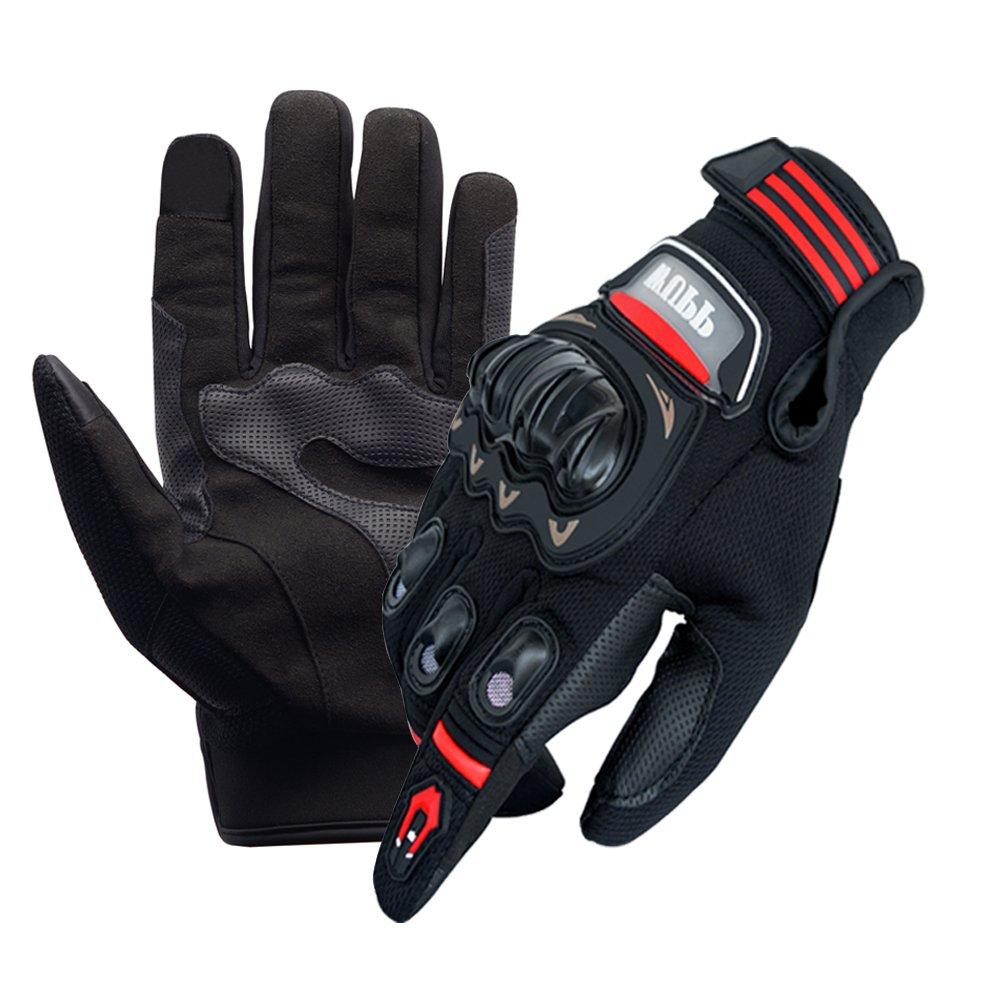 WANYI Gants Moto Eté Homologué Motorcycle Gloves, Gants Homme Femme, Gants de Moto Été Respirable Anti-Glissant Anti-Usure avec Bonne Flexibilité, Gant Moto Printemps Automne avec Écran Tactile (XXL) WY-ST-01