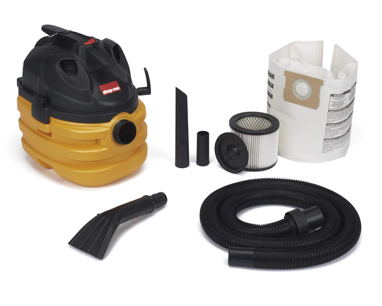 Shop-Vac 5872800 5 gallon 6.0 Peak HP Portable Heavy Duty Wet Dry Vacuum, Yellow Black