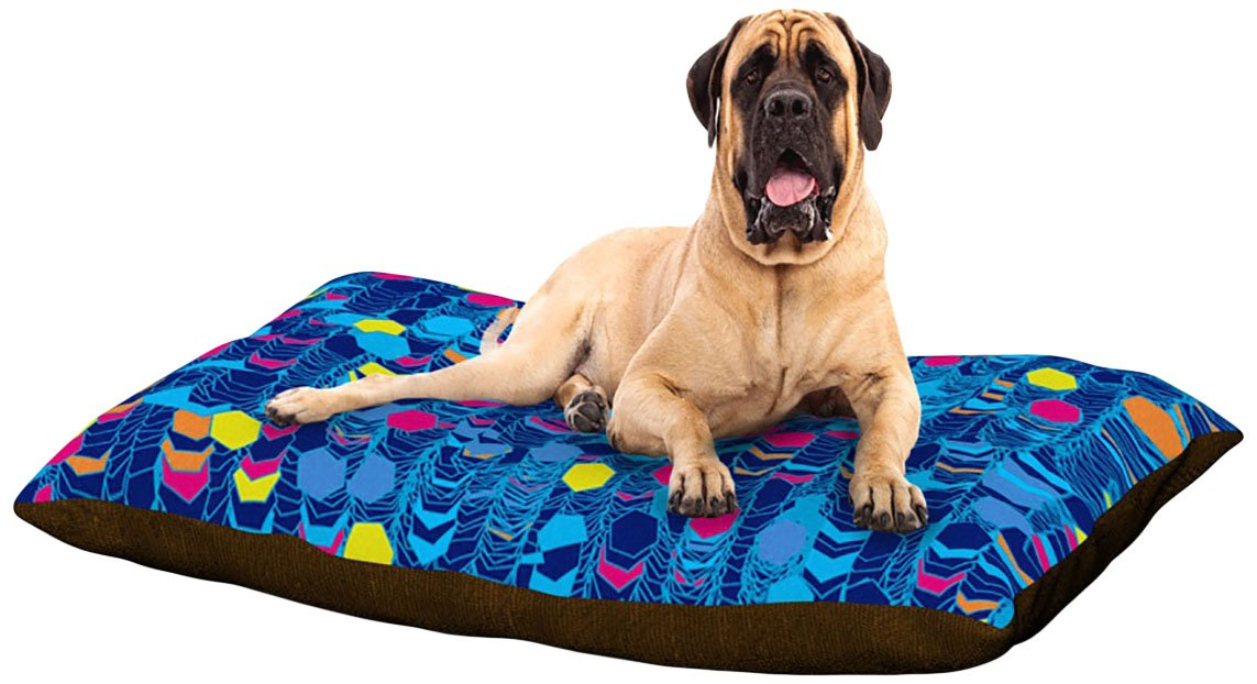 color Hiving bluee X-Large 40\ color Hiving bluee X-Large 40\ Kess InHouse Frederic Levy-Hadida color Hiving bluee  Dog Bed, 50 by 60-Inch, Navy