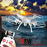 Syma X8W 2.4Ghz Explorers WiFi FPV RC Quadcopter with 2MP Camera RTF White