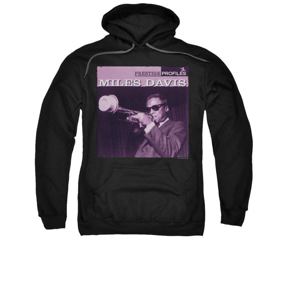 2Bhip Jazz-legende meilen davis profil kapuzen-sweatshirt für Herren