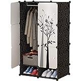 fhw Simple Wardrobe Modern Economic Plastic Space Space Sliding Door Bedroom Assembly Locker Dormitory Simple Wardrobe (Color