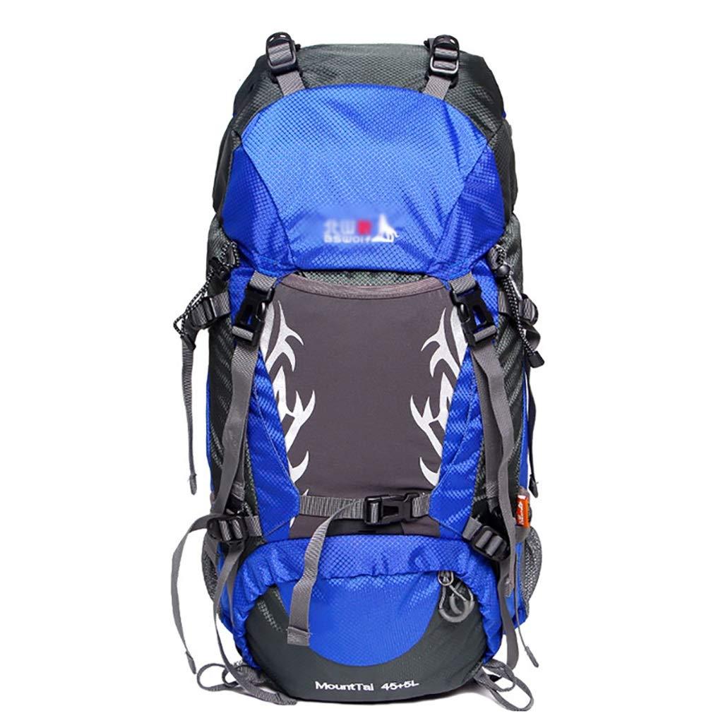 ハイキングバッグ 屋外登山バッグ大容量バックパック男性と女性旅行バックパックキャンプ50 L / 60 Lキャンプバックパック ハイキングバックパック (Color : D, Size : 50L-30*20*59CM) D 50L-30*20*59CM