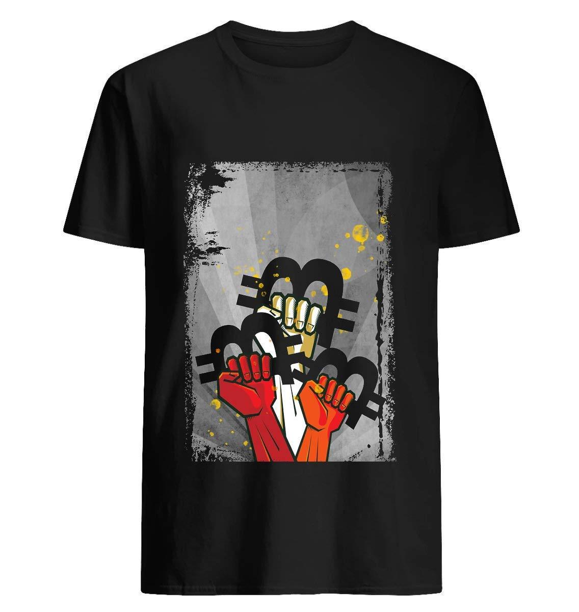 Bitcoin Revolution Art Original T Shirt For Unisex