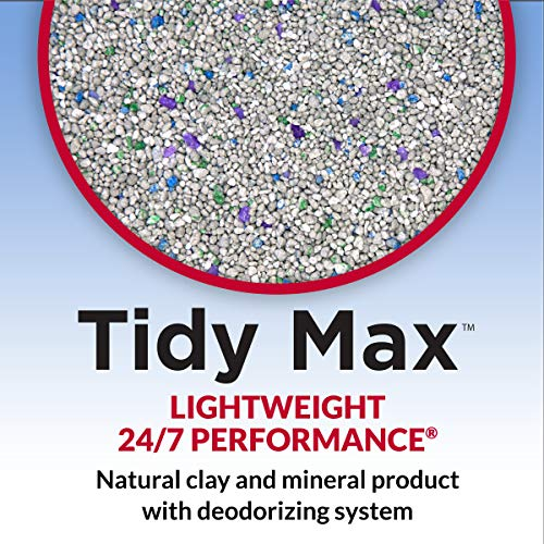 Purina Tidy Cats LightWeight Clumping Cat Litter, Tidy Max 24/7 Performance Multi Cat Litter - 17 lb. Box