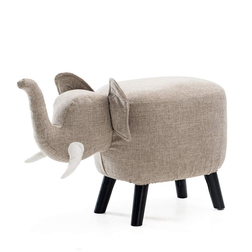 CaoyuPiccolo Sgabello Panca per Scarpe in Legno massello Sgabello Creativo per Bambini (colore   B-Linen)