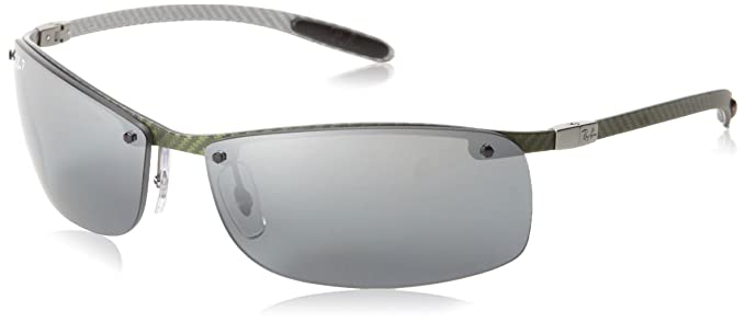 ray ban rb8305 polarized tech carbon  ray ban rb8305 light carbon frame polar grey mirror silver grad lenses 63mm polarized