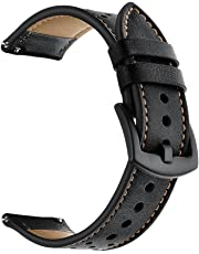 Elehome Quick Release Leather Watch Band for 18mm, 20mm, 22mm