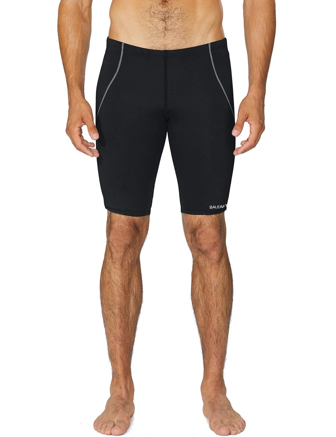 94adfea273 Baleaf Men's Athletic Durable Training Polyester Jammer Swimsuit product  image