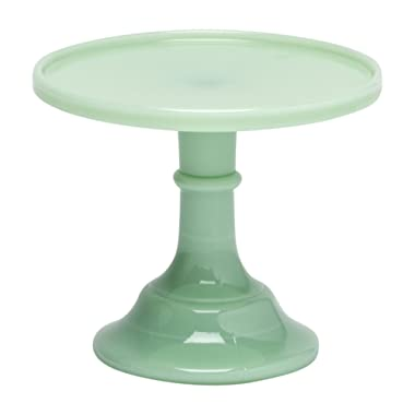 Jadeite 6  Glass Cake Stand - By Mosser Glass