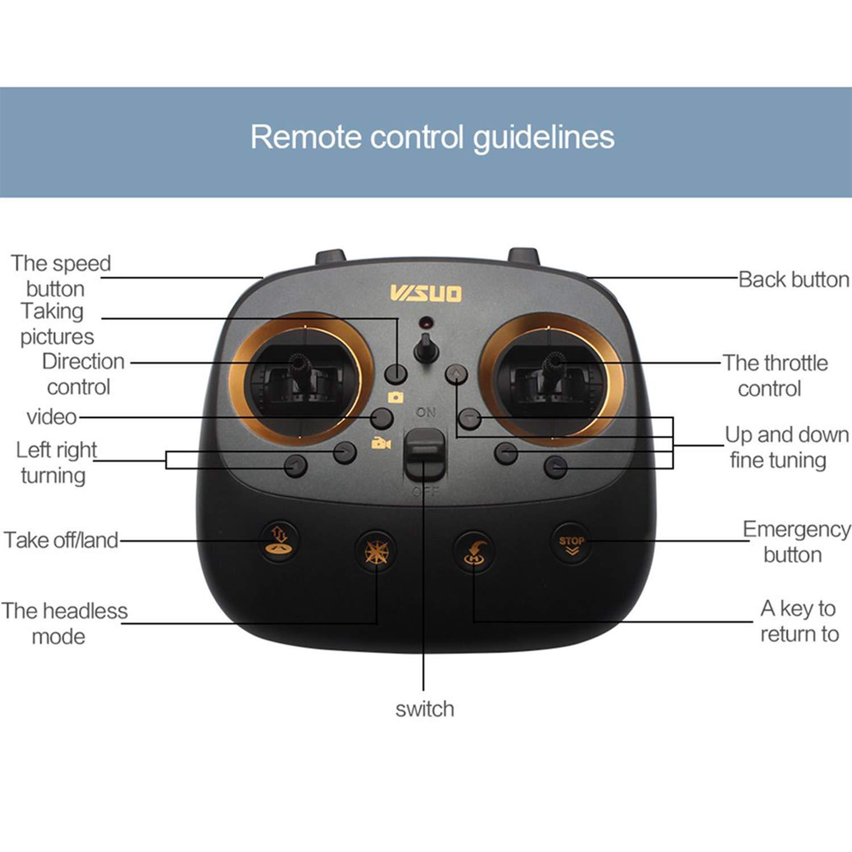 FairytaleMM Visuell XS811 RC Drone mit Kamera HD WiFi FPV Höhe Halten EIN Return-Taste Hubschrauber 2.4G Fernbedienung Quadcopter