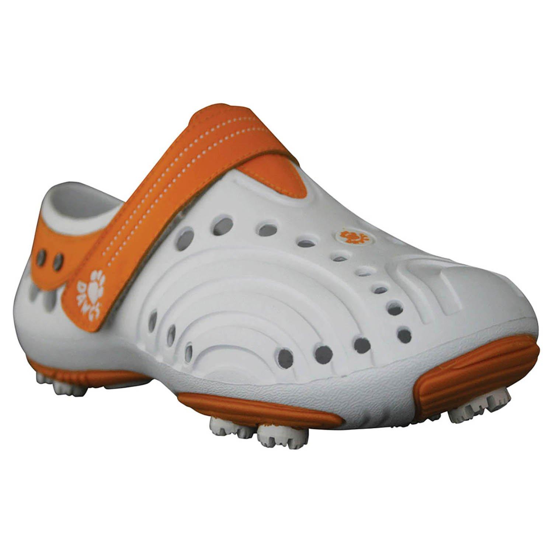 DAWGS Women's Golf Spirit Walking Shoe B00E7TVUKE 8 B(M) US|White/Orange
