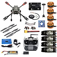 DIY 2.4GHz 4-Axis RC Drone Quadcopter APM2.8 Flight Controller M7N GPS 3508 700kv J630 Carbon Fiber Frame Props with AT9S TX Quadcopter (with Battery and Charger)