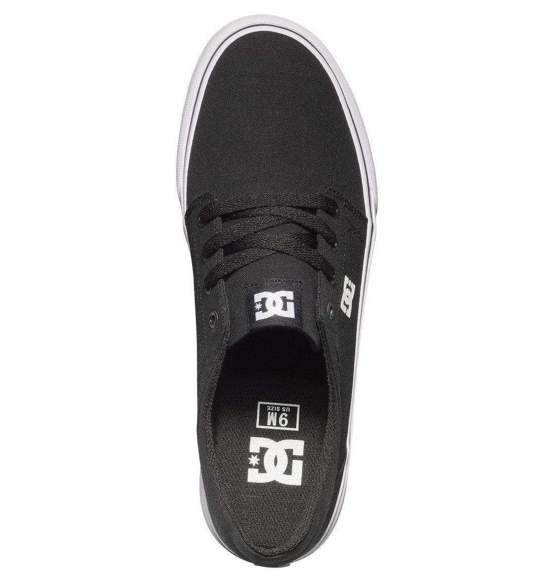 DC Men's Trase TX Unisex Skate Shoe B00L9DT68O 10 B(M) US|Black/White