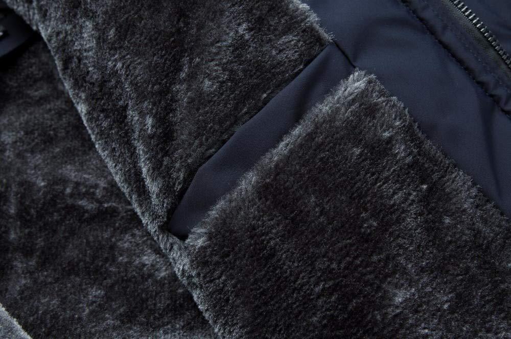 TIYKI Doudoune Manteau Coupe-Vent À Capuchon en Coton À Capuchon Épais pour Hommes en Coton Épais pour Hommes Black