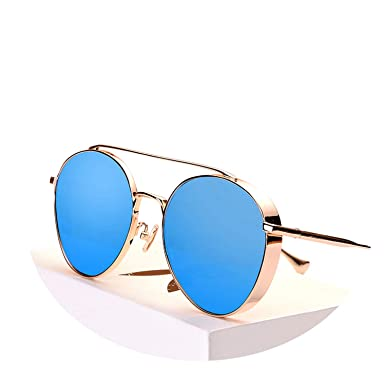 Sunwd Gafas de Sol, Metal Round Steampunk Sunglasses Men ...