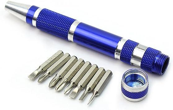 Pinzhi - Kit 8 en 1 Destornillador de Precisión Forma de Boligrafo Herramienta Bricolaje: Amazon.es: Bricolaje y herramientas