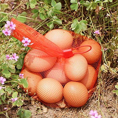 Sajid Rana 100pcs 15 Green Reusable Nylon Mesh net Produce Grocery Toys Fruits Vegetables Storage Poly Bags