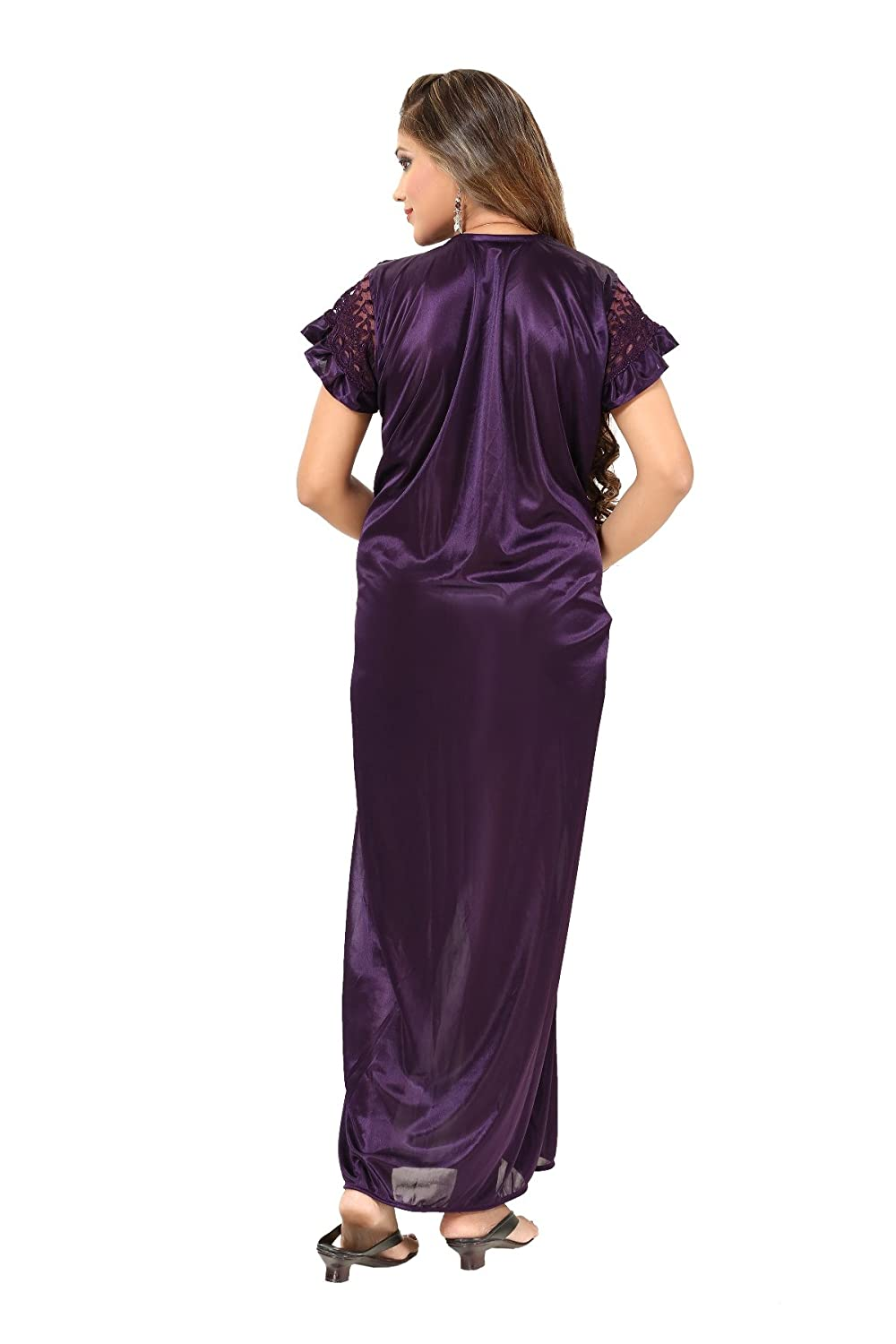 9476495685 Fashigo Women s Nightdress (FASNW032 Dark Purple Free Size)  Amazon.in   Clothing   Accessories