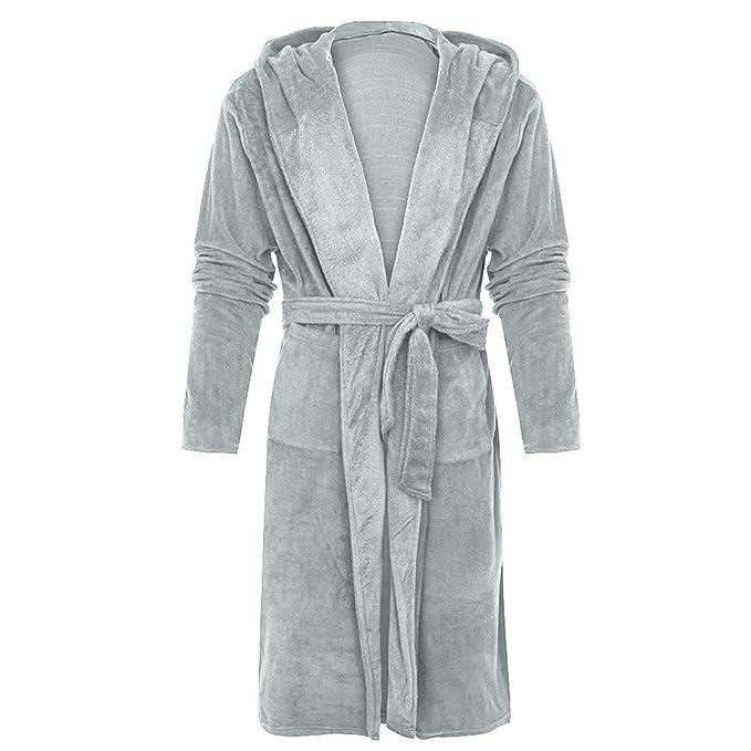 Gli uomini di lusso tessuto check vestaglie Accappatoio Comfort Caldo Morbido Grigio Rosso Blu