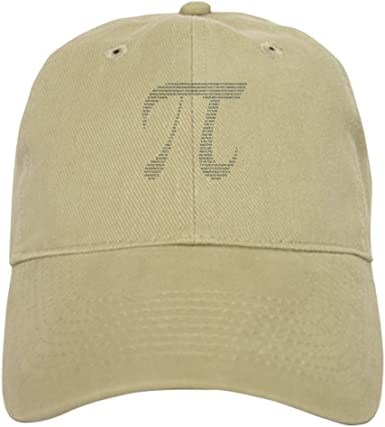 Baseball Cap with Adjustable Closure Unique Printed Baseball Hat Pi Symbol W// Numbers CafePress
