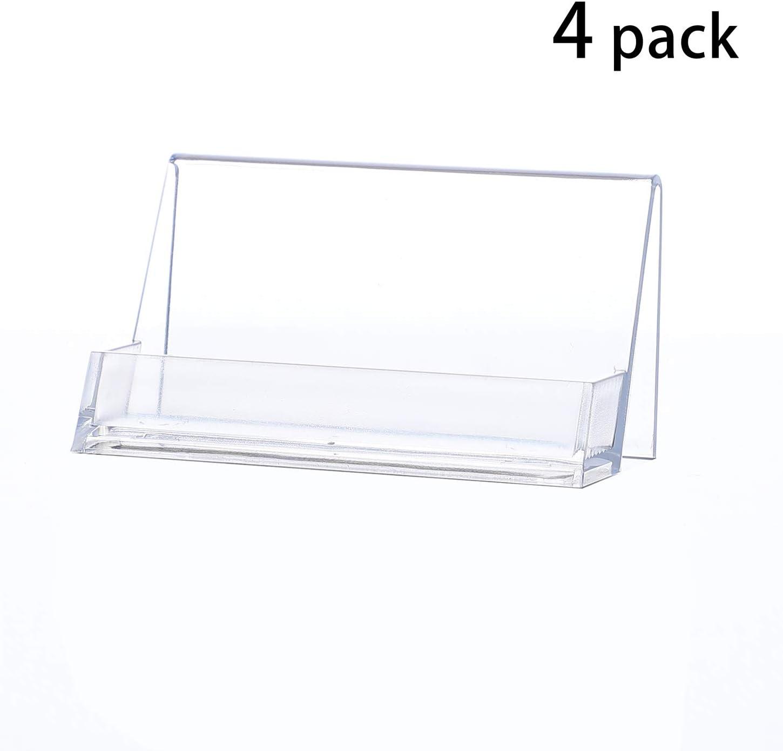 Visitenkartenst/änder,Plastikkartenst/änder,glasklar YOSCO 4 Packung Visitenkartenhalter