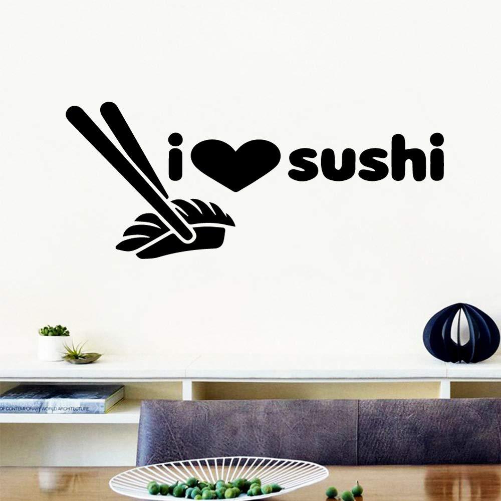 zhuziji Cartoon Sushi Cartoon Tatuajes de Pared PVC Mural Art DIY ...
