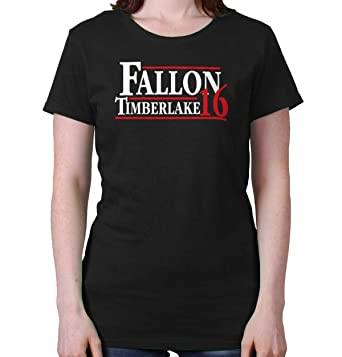 9761101ca7cd7 Brisco Brands Fallon Timberlake 2016 Funny Election Gym Ladies T Shirt Black