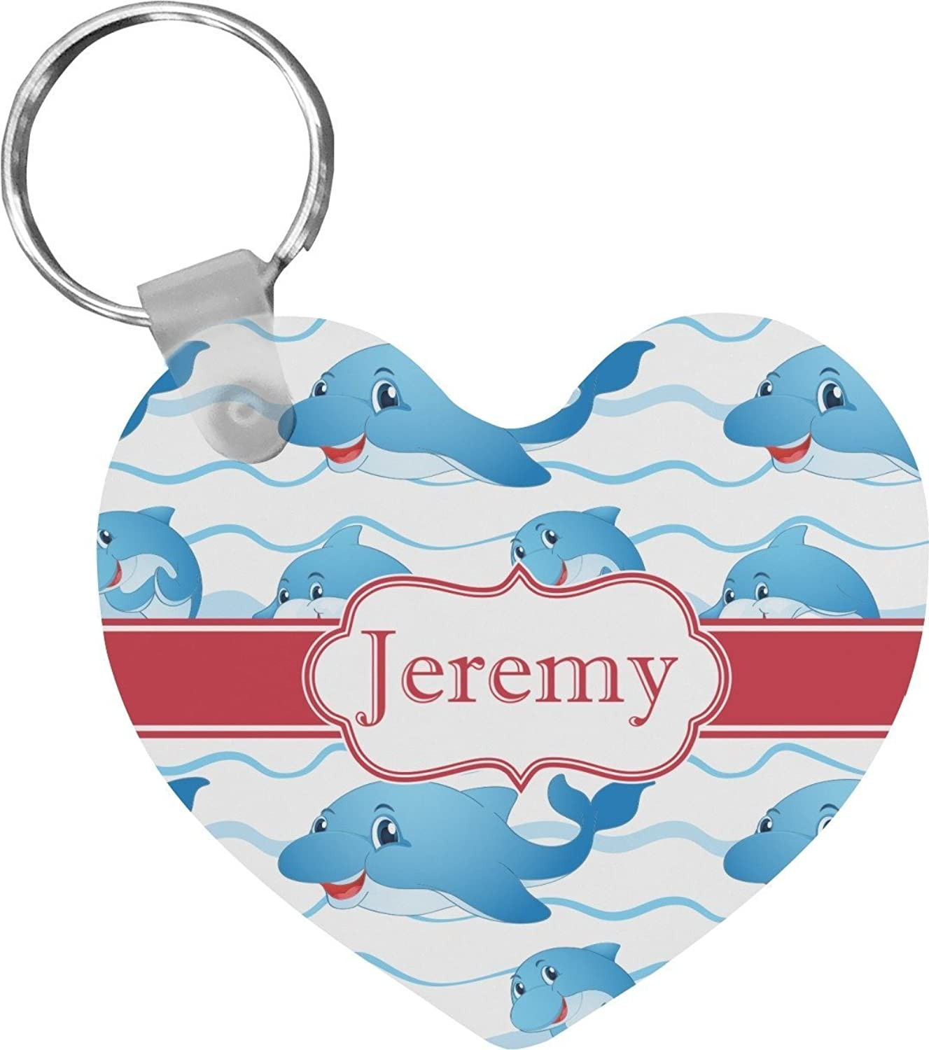 Dolphins Heart Keychain (Personalized)