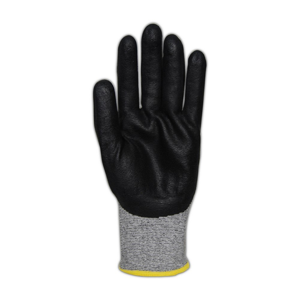 Magid Glove & Safety GPD586-10 Magid D-ROC 18-Gauge HPPE Blend Foam Nitrile Palm Coated Work Glove Cut Level 4, 11, Salt & Pepper , 10 (Pack of 12) by Magid Glove & Safety (Image #1)