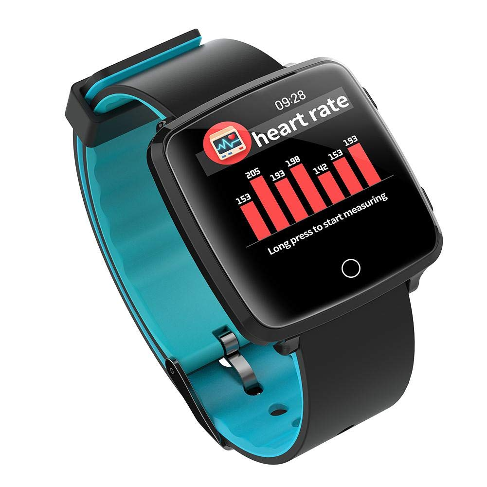 Alloet BL89 Bluetooth 1.3Inch Screen Blood Pressure Heart Rate Smart Watch (Blue)